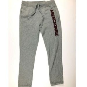 Abercrombie & Fitch Gray Applique Fleece Joggers